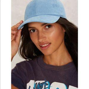 💛strike none vegan Suede baseball cap